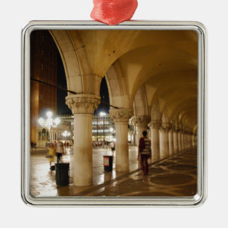 Venice at night christmas ornament