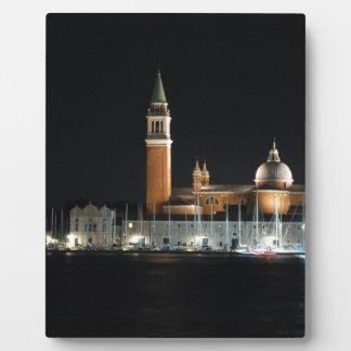 Venice at night plaque