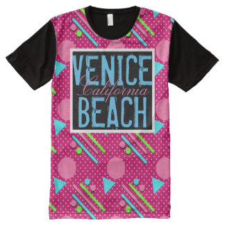 Venice Beach California PRGF All-Over Print T-Shirt