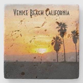 Venice Beach California Sunset Souvenir Stone Coaster