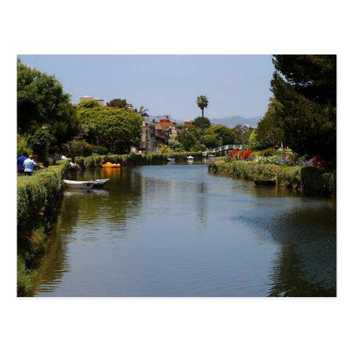 Venice Beach Canals Postcard