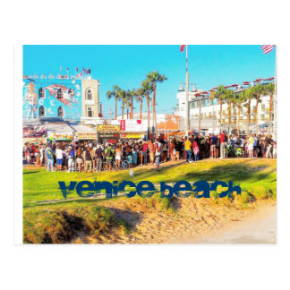VENICE BEACH ENTERTAINMENT CYCLE POSTCARD