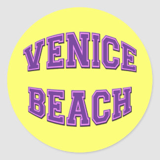 VENICE BEACH ROUND STICKER
