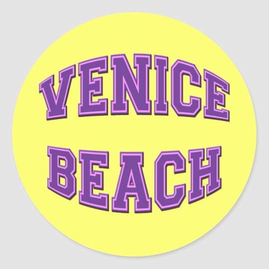 VENICE BEACH ROUND STICKER