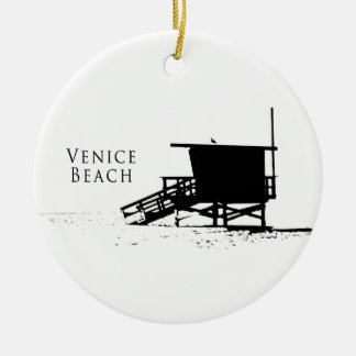 Venice Beach Silhouette Ornament