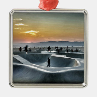 Venice Beach Skateboard Park Christmas Ornament
