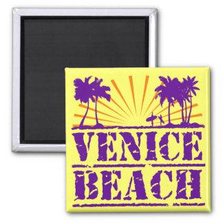 Venice Beach Square Magnet
