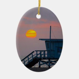 Venice Beach Sunset Christmas Ornament