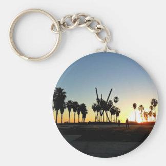 Venice Beach Sunset Key Ring