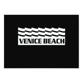 Venice Beach Waves 13 Cm X 18 Cm Invitation Card
