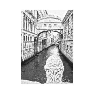 venice black and white print
