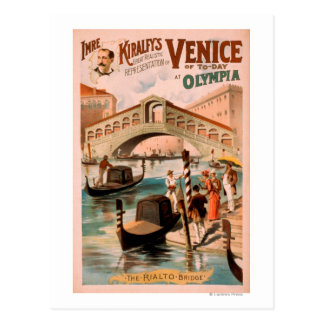 Venice, Bride of the Sea at Olympia Gondolas 2 Postcard