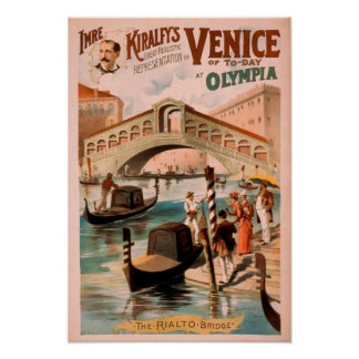 Venice, Bride of the Sea at Olympia Gondolas 3 Poster