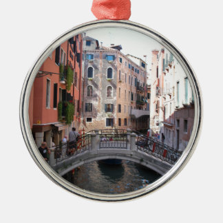 Venice bridge Silver-Colored round decoration