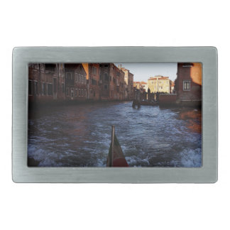 Venice by Boat Rectangular Belt Buckle