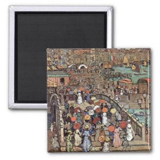 Venice by Prendergast, Vintage Post Impressionism Fridge Magnet