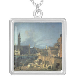 Venice: Campo San Vidal and Santa Maria Carita Silver Plated Necklace