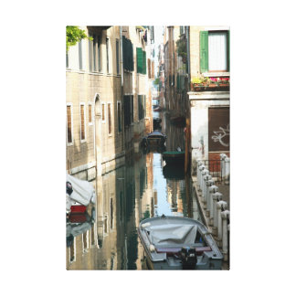 Venice Canal Canvas Prints