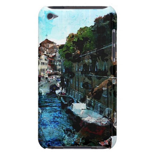 Venice Canal in Italy Red Boat Barely There iPod Cases