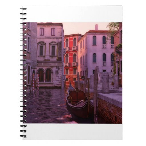 Venice Canal in the Evening Light Notebook