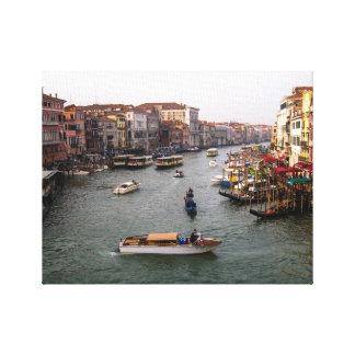 Venice Canal, Italy Canvas Prints