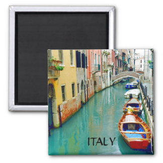 VENICE CANAL, ITALY SQUARE MAGNET