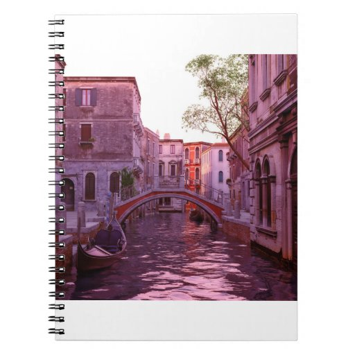 Venice Canal Landscape in the Evening Light Notebook