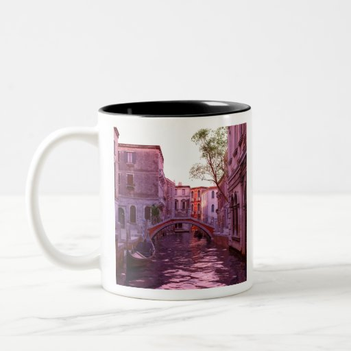 Venice Canal Landscape in the Evening Light Two-tone Coffee Mug