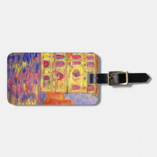 venice canal light luggage tag