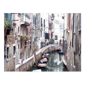 Venice canal postcard