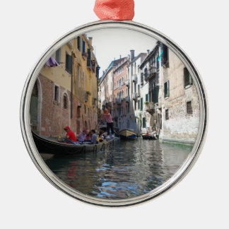 Venice canal Silver-Colored round decoration