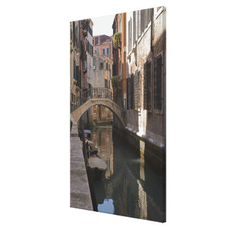 Venice Canals and Stone bridge Canvas Print