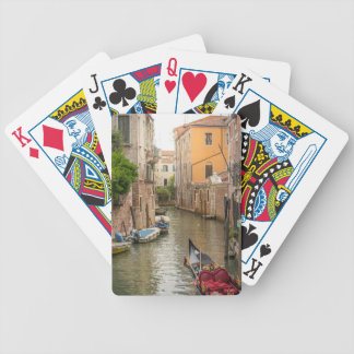 Venice canals bicycle playing cards