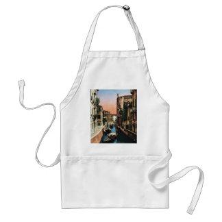 Venice canals, VIntage image Adult Apron