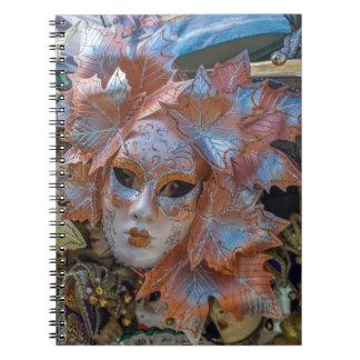 Venice Carnival mask notebook