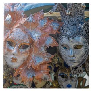 Venice Carnival masks ceramic photo tile
