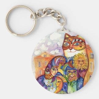 Venice cat key ring