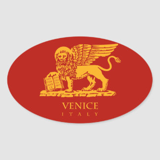 Venice Coat of Arms Oval Sticker