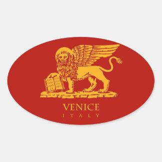 Venice Coat of Arms Oval Sticker