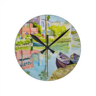 Venice Colors Round Clock