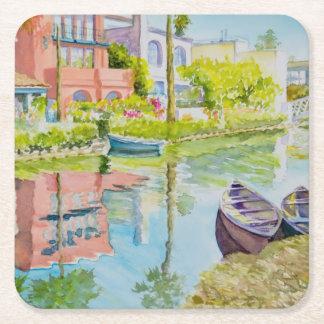 Venice Colors Square Paper Coaster