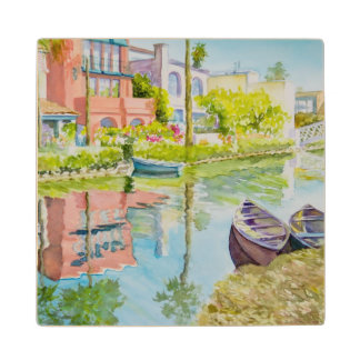 Venice Colors Wood Coaster