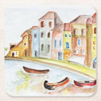 Venice Concept Square Paper Coaster