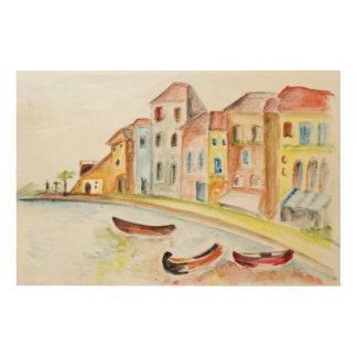 Venice Concept Wood Print