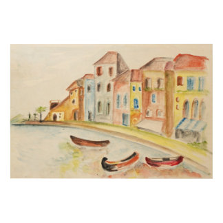Venice Concept Wood Wall Decor