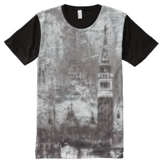 VENICE DISTRESSED NO. 1 Whitewash - Old Version - All-Over Print T-Shirt