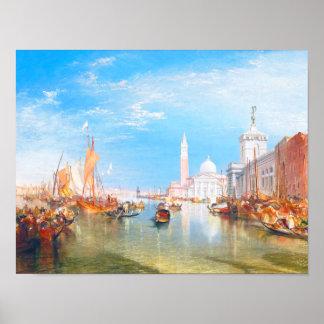 Venice, Dogano and Santa Maria della Salute art Poster
