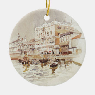 Venice. Doge's Palace. by Vasily Surikov Christmas Ornament