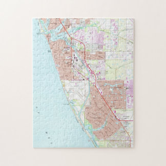 Venice Florida Map (1973) Jigsaw Puzzle