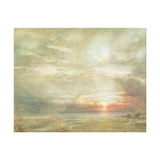 Venice from the Hebrew Cemetery Canvas Print